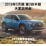 トヨタ 2018年度 第2四半期決算 表紙