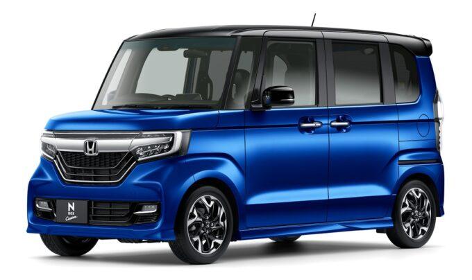 N-BOXカスタム ブリリアントスポーティブルー・メタリック&ブラック