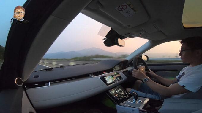 レンジローバー・イヴォーク 高速道路の試乗