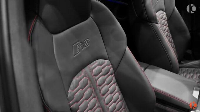 アウディRS6 アバント(ナルドグレー)RSのシート