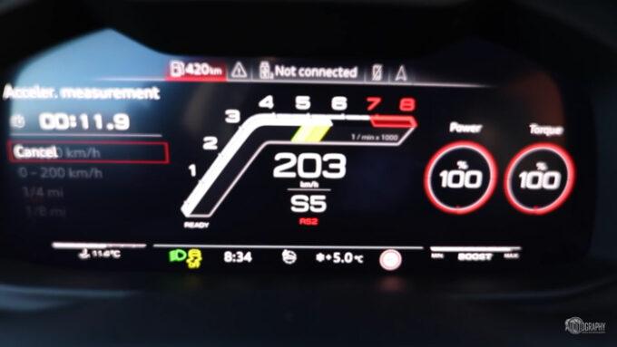 アウディRS Q8 加速性能