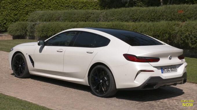 BMW 8シリーズ・グランクーペ(白)|リアビュー