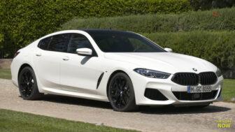 BMW 8シリーズ・グランクーペ(白)|フロントビュー