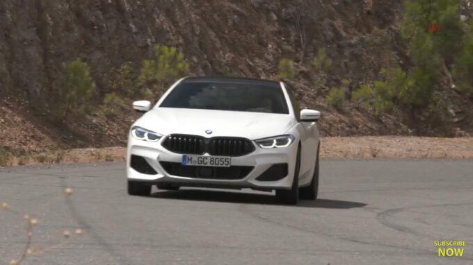BMW 8シリーズ・グランクーペ(白)|走行