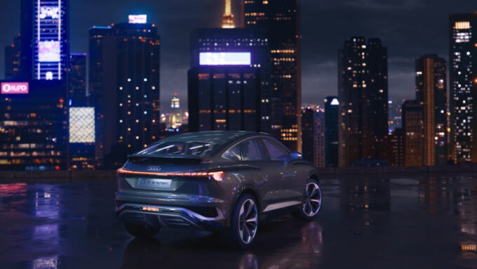 2021 アウディ Q4 スポーツバック(e-tron)コンセプト|都会の景色