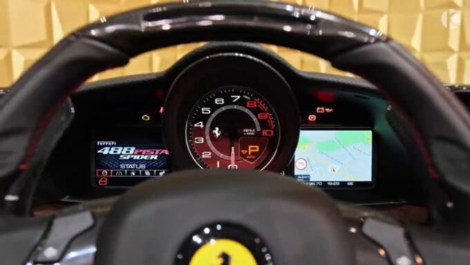 フェラーリ 488 ピスタスパイダー|メーター
