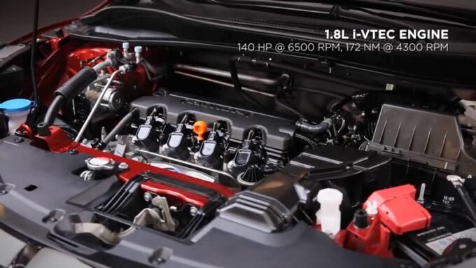 2020 ホンダ H-RV(日本名:ヴェゼル)|オレンジ|エンジン