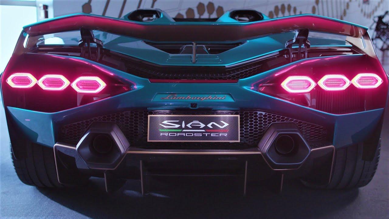 Lamborghini Sian Roadster - Breathtaking Super Sports Car|カーテレビ(2020/07/08)