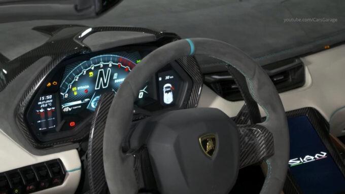 ランボルギーニ・シアン・ロードスター|ステアリング