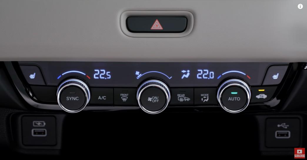 ホンダHR-V(ヴェゼル)内装:エアコンの温度調整