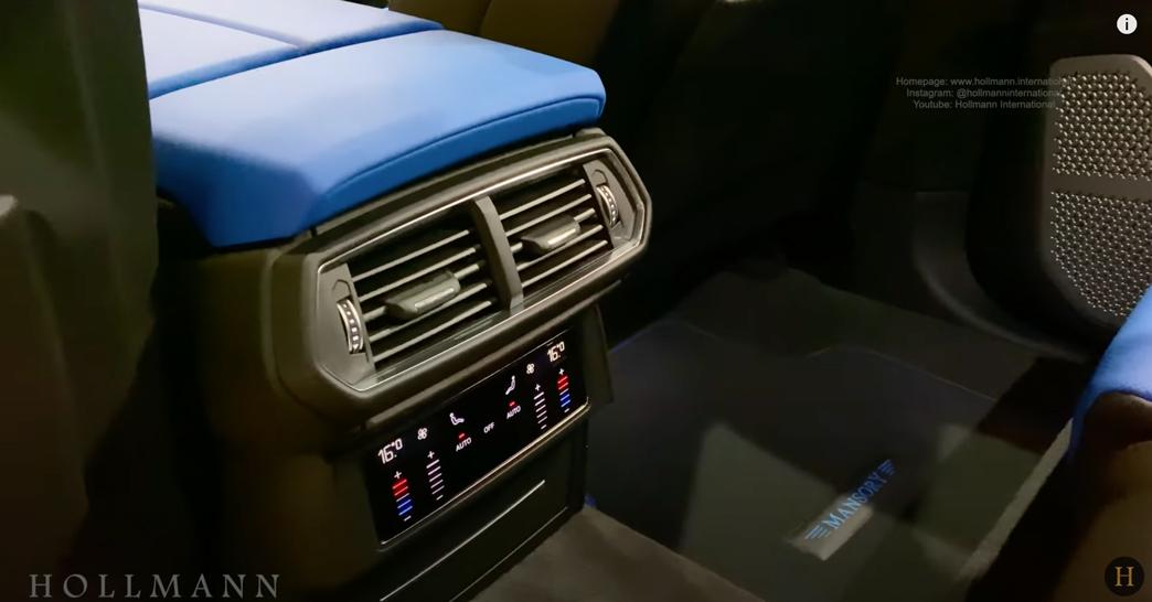 ランボルギーニ・ウルス(マットグレー)マンソリー 内装:後部座席足元のエアコン