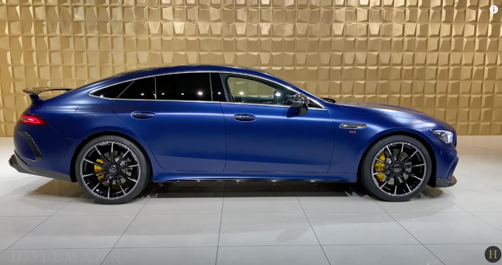 メルセデス・ベンツ GT 63S AMG 4M ブラバス800(ブルー):サイドビュー