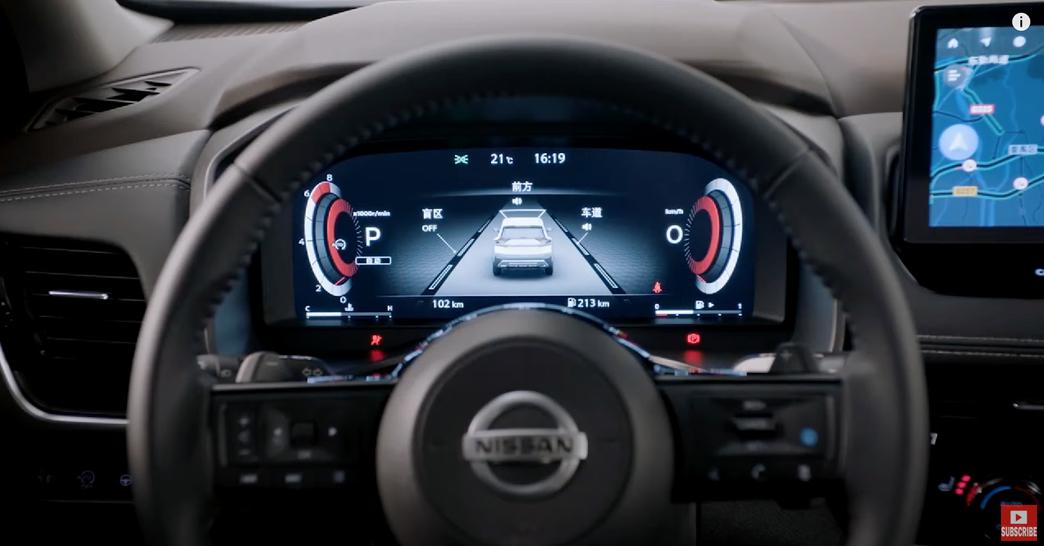 日産エクストレイル 2022 中国 内装 運転席メーター
