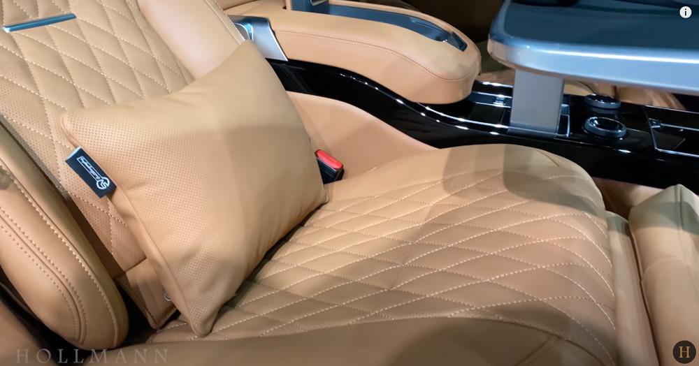 レンジローバー 5.0 V8:シートのステッチとクッション