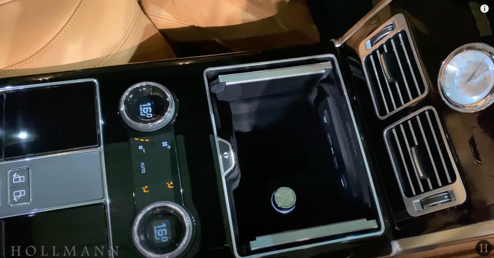 レンジローバー 5.0 V8:収納ボックス