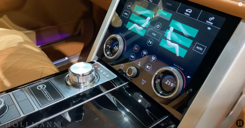 レンジローバー 5.0 V8:エアコンの操作